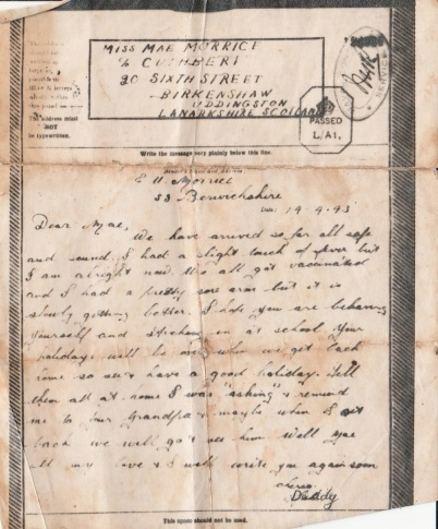 letter from grandfather